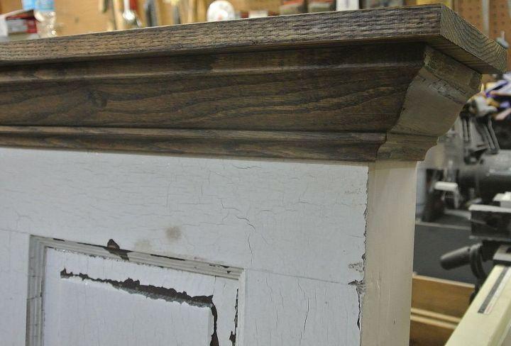 5 panel 90 yr old door converted into a king size door headboard, doors, painted furniture, repurposing upcycling