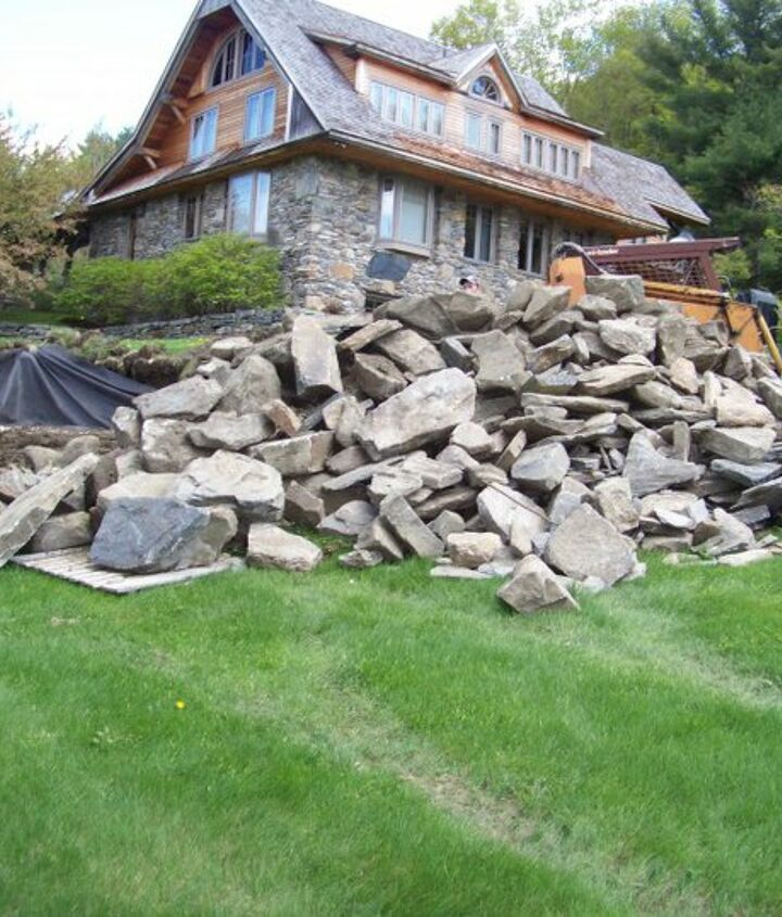 what do you do with a pile of rocks in 5 day s, landscape, outdoor living