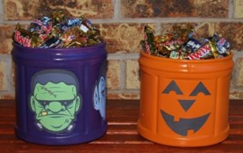 Coffee Container Halloween Candy Canister