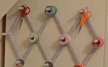 Turn a Vintage Accordion Peg Hanger Into a Craft Supply Organizer