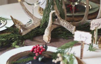 A Rustic Christmas Tablescape