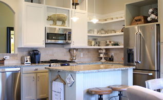 chalk painted kitchen cabinets amp cottage kitchen redo, electrical, home decor, kitchen cabinets, kitchen design, View of kitchen corner with open shelving