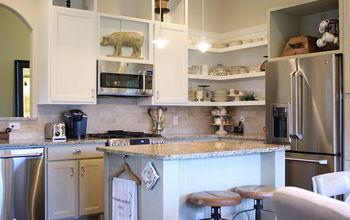 Chalk Painted kitchen cabinets & cottage kitchen redo