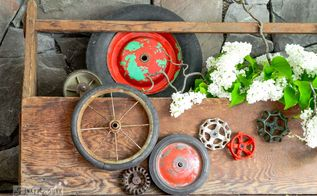 turn your hoarding habits into art with a funky toolbox planter idea, flowers, gardening, repurposing upcycling