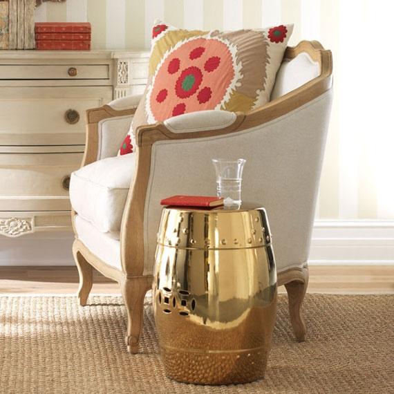 via http://www.spearmintdecor.com/2012/04/gold-chinese-garden-stool-for-49-99/