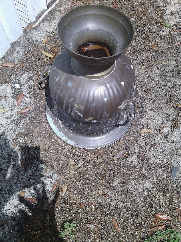q brass urn, crafts, repurposing upcycling