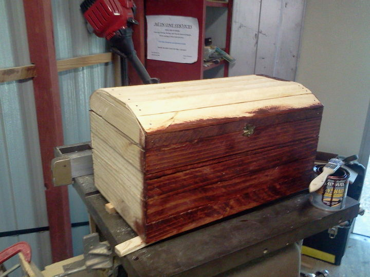 wooden box made out of scrap wood, diy, woodworking projects