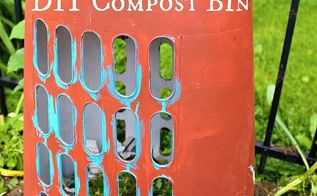 how to make your own compost bin diy, composting, gardening, go green