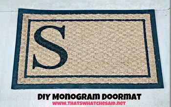 DIY Monogram Doormat for a Fraction of the Cost of Stores!