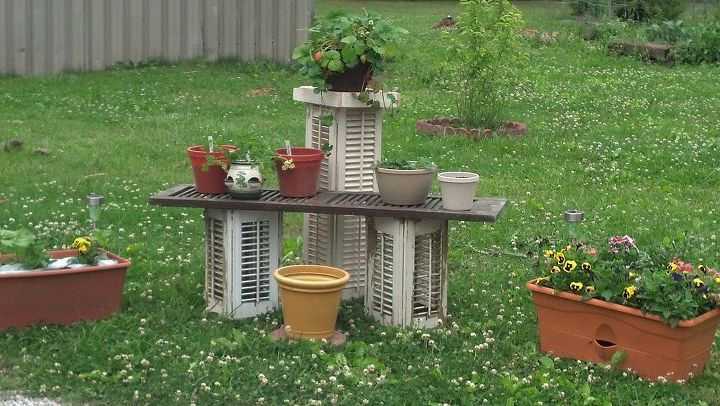 found these old shutters for 2 dollars this is what i thought id make, gardening, repurposing upcycling