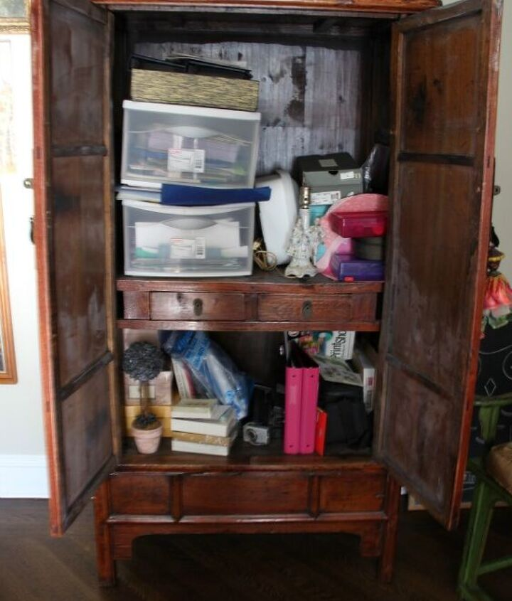Mission:  Organize this armoire to within an inch of it's life! http://eclecticallyvintage.com/2013/01/mission-organization/