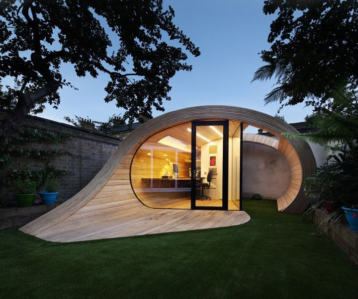 shed office shoffice by platform 5 architects, architecture, craft rooms, home decor, home office