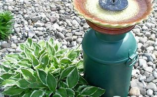 milk can fountain, gardening, ponds water features, repurposing upcycling