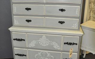 old maple dresser turned french country chic, painted furniture