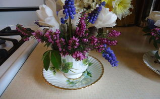 making tea cup arrangements for a baby shower, flowers, gardening, home decor