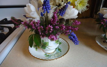 Making Tea Cup Arrangements for a Baby Shower