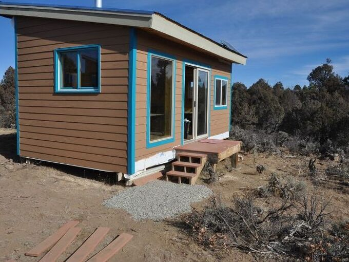 bath addition at the cabin, diy, home improvement, woodworking projects, part of the 800 pounds of crushed stone on this trips visit
