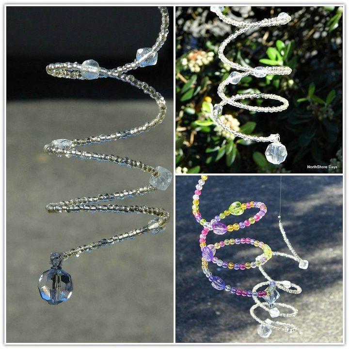 spiral sun catchers, crafts