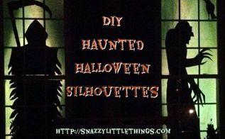 diy halloween silhouettes, crafts, halloween decorations, seasonal holiday decor, DIY Silhouettes with posterboard from the dollar store