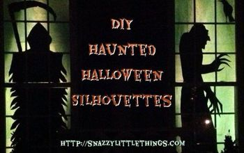 DIY: Halloween Silhouettes / Haunted House