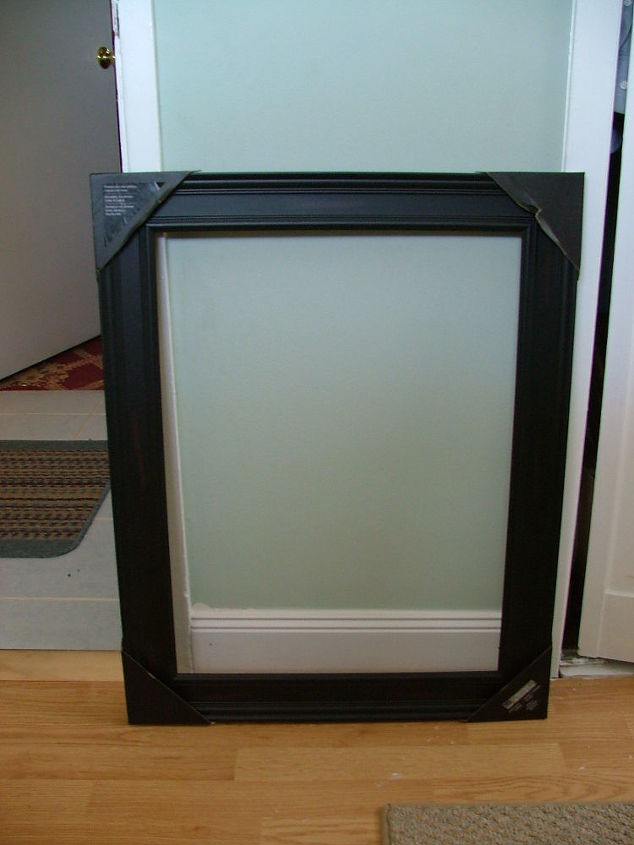Old Medicine Cabinet Gets A Facelift For 30 Cabinets Lightweight Open Picture Frame From