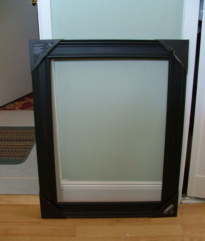 Lightweight open picture frame from craft store