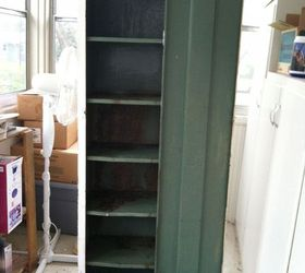 Old Metal Cabinet Turned Into Pantry, Painted Furniture, I Got This Cabinet  At A