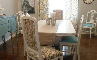 painting dining room furniture, dining room ideas, home decor, lighting, painted furniture, After