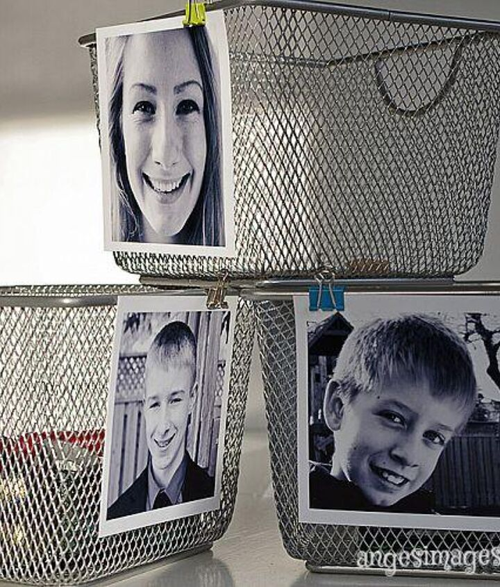 Print a square format black and white portrait of each family member.