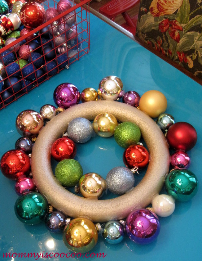 how to make a christmas ornament wreath, crafts, seasonal holiday decor, wreaths