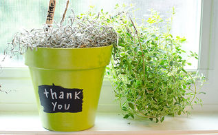 diy herb thank you gifts, chalkboard paint, crafts, gardening, Pretty on a kitchen windowsill or outside