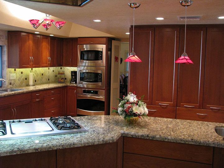 is this kitchen worth your vote, home decor, home improvement, kitchen design, This kitchen was totally reconfigured and outfitted with custom designed cherry cabinets