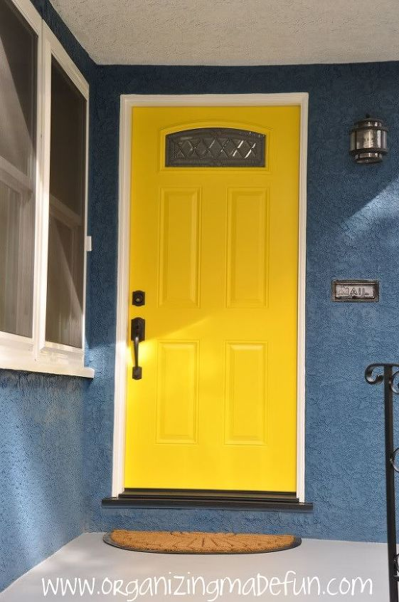 Our beautiful front door - in yellow! So warm and welcoming.