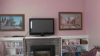 q would it devalue my fireplace to paint it out in white it is currently gray brick, concrete masonry, fireplaces mantels, painting, Here you go Becky Hope this helps Our livingroom just ignore the ugly faded dusty rose couch lol It is getting reupholsterd