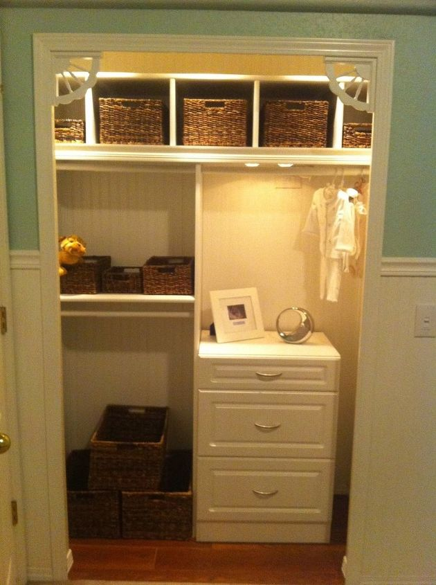q small nursery open up the closet we were looking for creative and practical ways to, closet, electrical, home decor