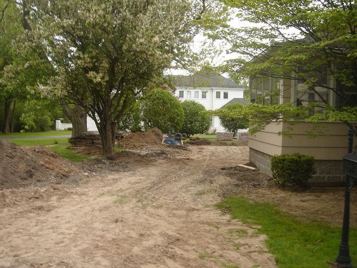 During Patio and Waterfall Repair Brighton, NY by Acorn of Rochester NY