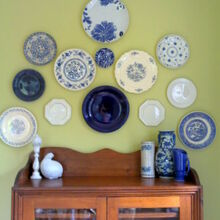 cheap invisible plate hangers, repurposing upcycling
