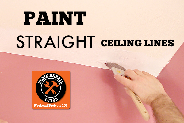 Conquer Painting Straight Ceiling Lines (without Tape) | Hometalk