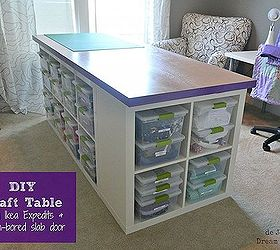 Superb Diy Craft Table, Craft Rooms, Diy, Painted Furniture, Finished