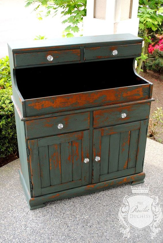 dry sink makeover in milk paint, painted furniture, repurposing upcycling, rustic furniture
