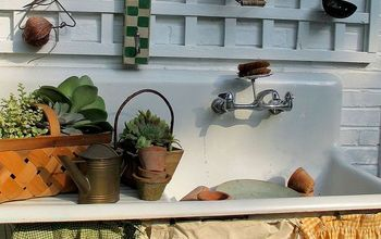 Our Summer Potting Sink