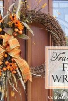 easy diy fall wreath, crafts, seasonal holiday decor, wreaths, Traditional Fall Wreath
