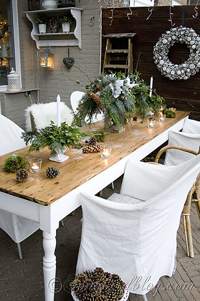 Christmas Outdoor Decor Living Seasonal Holiday Our Refectory Table Is Long