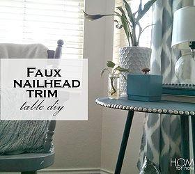 Faux Nailhead Trim Table Diy, Home Decor, Painted Furniture