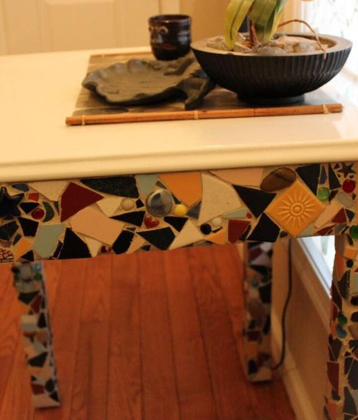 ceramic table, painted furniture