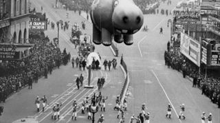 id needed re characters in entertainment, seasonal holiday d cor, thanksgiving decorations, Happy Hippo in the 1940 s Macy s Parade INFO