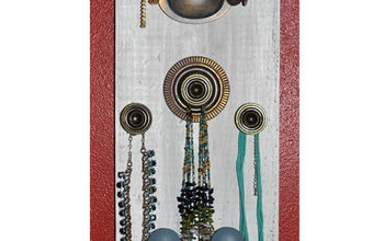 i made a jewelry board using old cabinet knobs and handles and such, flowers, painted furniture, repurposing upcycling, More knobs and handles from Habitat for Humanity Not sure what I m going to do with the upside down pull maybe put a fake flower or two in there