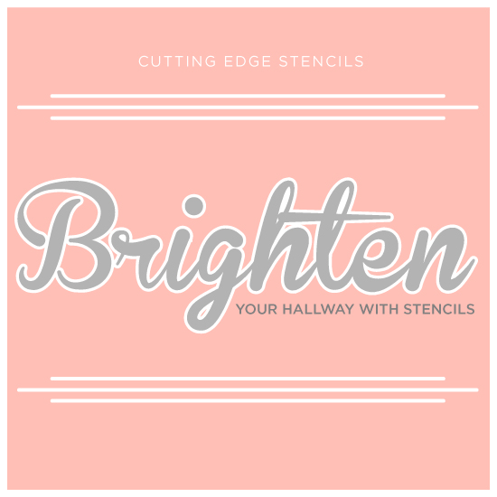 brighten your hallway with stencils, foyer, painting