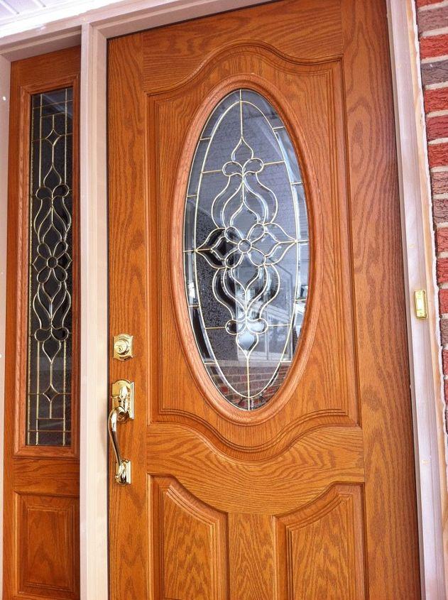 recently had a new featherriver fiberglass door installed by homedepot however, doors, window treatments, FeatherRiver Fiberglass Door