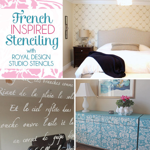 stencil decor to adore french inspired stenciling ideas, painted furniture, wall decor, French inspired designs